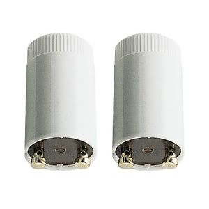 88424 Стартер VDE, 4-22W, белый Starter for fluorescent and compact fluorescent lamps, for use with conventional ballast. Twin pack for lamps from 4 to 22 watts. 884.24 Paulmann