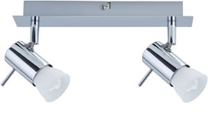 66592 Светильник настенно-потолочный Isa ESL 2x7W GU10 230V хром The 2-lamp -Isa- spotlight combines energy-efficient technology with attractive design. The product includes a lamp, ESL glass reflector lamp 7В �W GU10, on delivery and is suitable for wall and ceiling mounting. The generous light distribution is ideally suited to general purpose room illumination. 665.92 Paulmann