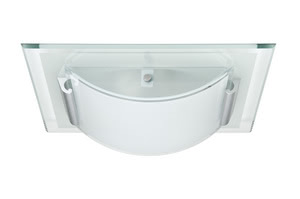 70018 Светильник настенно-потолочный Faccetto 1x9W, E27 230V Planar and convex glass forms are playfully combined in our Faccetto ceiling luminaire. Faccetto can be combined with a wide variety of furnishing styles. Its polished glass edging has a particularly festive feel. The light point of the energy-saving lamp provided adapts perfectly to the design. 700.18 Paulmann
