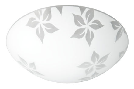 DS ceiling lamp, decorative circle, flower, satin, glass