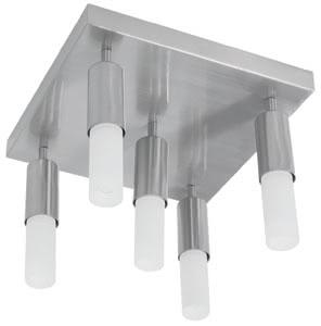 79230 Cветильник потолочный Gala Strada5 5x9W E14 230V железо шероховатое/опал 792.30 Paulmann