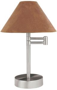 79382 Светильник настольный Helena max.1x40W E14 230V никель лощеный/коричневый (с кабельным вкл.,вместе со штекером) 793.82 Paulmann