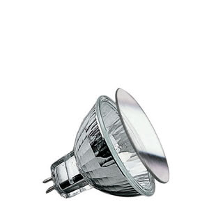 "83221 Лампа галогенная 12V 20W GU5,3 38*BAB flood MR16 Security (D-51mm, H-45mm) (4000h) серебро Security �Halogen light is brilliant, strong – and quite hot. The Security bulb ensures more safety, due to it""s special coating: 80 percent of its heat is directed out the front. Ideal for downlights: Insulation behind the ceiling is not endangered. 832.21 Paulmann"