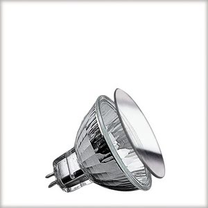 Low-voltage halogen reflector lamp, security, 35 W GU5.3, silver 12 V