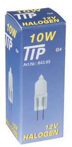 84393 Лампа галогенная 12V 10W G4 Tip (D-9mm, H-33mm) (1000h) сатин 843.93 Paulmann