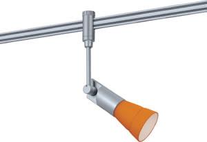 97272 Cветильник для шинной системы PHANTOM 230V L&E Phari 1x40W G9 230V титан/оранжевый лощеный 972.72 Paulmann