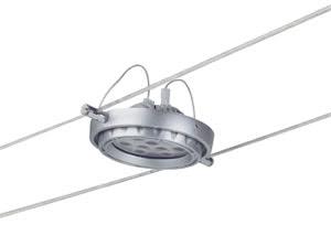 97476 Cветильник для тросовой системы WIRE 12V L&E Powerline LED 1x18W G53 12V 6500К алюминий (В-190mm) 974.76 Paulmann