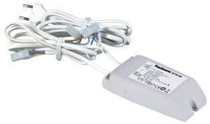 97538 Электр. тр-р для Светильников LED и спотов, 10W, 350mA , белый This LED power supply is specially designed for use with LED operating at 350ВmA volt constant current. 975.38 Paulmann