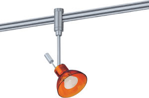 97574 Cветильник для шинной системы PHANTOM 230V L&E Zaretti 1x50W GZ10 230V титан/оранжевый лощеный 975.74 Paulmann