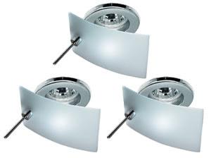 98074 Набор светильников встраиваемых декоративных Carre Cristal 3х35W GU5,3 230/12V хром (транс 105 980.74 Paulmann
