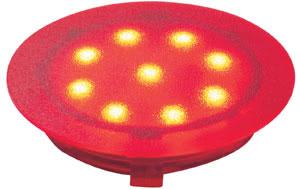 Profi EBL UpDownlight LED 1W 12V 45mm Rot/Kunststoff
