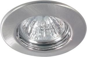 98816 Набор светильников встраиваемых круглых 4x50W GU5,3 230/12V железо шероховатое (транс 2х105VA) 988.16 Paulmann