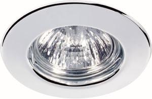 98964 Набор светильников встраиваемых круглых 6x35W GU5,3 230/12V хром (транс 2х105VA) 989.64 Paulmann