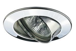 99410 Набор светильников встраиваемых круглых поворотных 4x50W GU5,3 230/12V хром (транс 2х105VA) (I 994.10 Paulmann