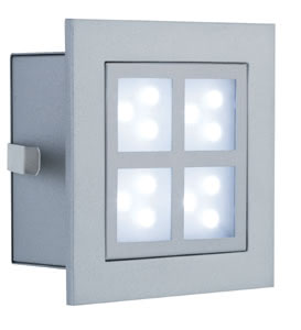 99498 Светильник Профи Виндоу II LED 1х2 Вт алюм Light need not always come from above: The Special Line LED Window 2 is specially designed for in-wall mounting, sets attractive light effects and increases safety through lighting, e.g. in corridors or indoor staircases. Through the use of economical and long-life LED technology, it is also suited for round-the-clock use. 994.98 Paulmann