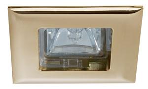 99574 Набор светильников встраиваемых квадратных Quadro 4x35W GU5,3 230/12V золото (транс 150VA) (IP44) all 995.74 Paulmann