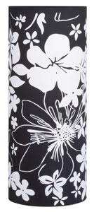 Living 2Easy Abat-jour Cilento Floral Noir Tissu